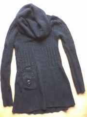 Strickpullover - Damen - Pullover - Longpullover - XXL Kragen -