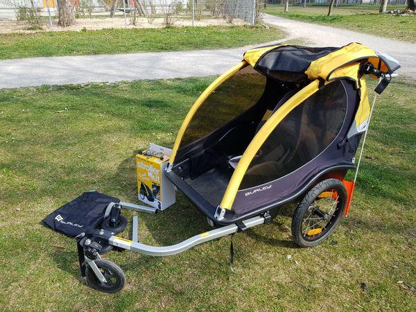 Burley Cub 2 Sitzer 2 Kupplungen Babyschale Wie Neu Nur