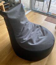 Sitzsack grau schwarz