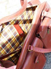 Damen Handtasche VINTAGE Leder rotbraun