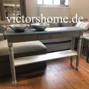 Schlanke Wandkonsole Konsolentisch grau Sideboard