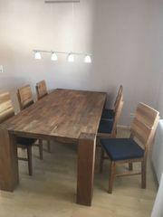 Esstischgruppe Esstisch mit 6 Stühlen