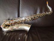 Weltklang Tenor Saxophon versilbert Tenorsaxophon