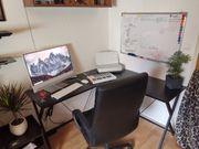 Schreibtisch in schwarz L-Tisch Bürotisch