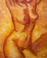 Original-Gemälde weiblicher Akt
