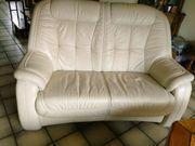 Couchgarnitur cremefarbig - 4 Teile