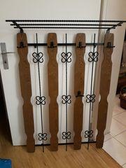 Garderobe rustikal Schmiedeeisen und Holz