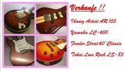 Gitarren von Fender Ibanez Yamaha