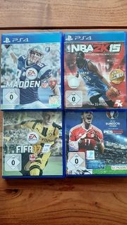 Playstation4 Spiele Fifa17 Madden17 PES16