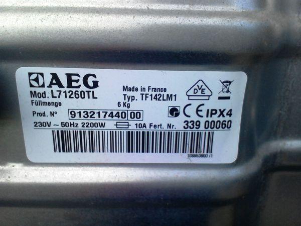 AEG Lavamat Bedientableau Steuerung Ersatzteil