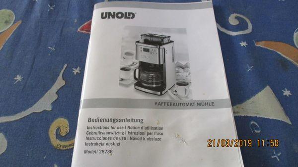 Unold 28736 Kaffeeautomat mit integrierter
