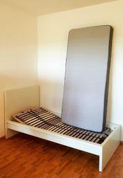 Bett 90x200 mit Matratze verstellbarem