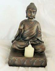 Schwarze Buddha-Figur von PartyLite