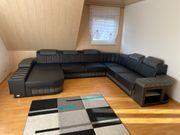 Premium Echtledersofa Couch Wohnlandschaft Ledersofa