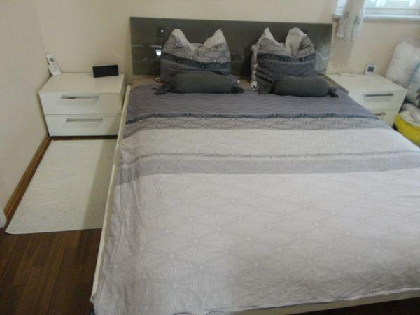 Schlafzimmer Wasserbett Sideboard zwei Nachtschränkchen von Nolte ...