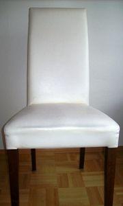 Stuhl in Kunstleder weiß