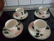4 Kaffeetassen Villeroy Boch Wildrose
