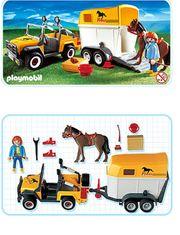 Playmobil - Auto mit Pferdeanhänger