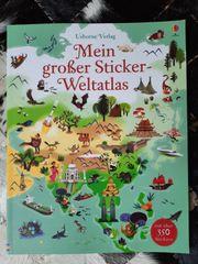 NEU Mein Weltatlas Stickerbuch