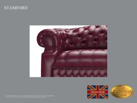 Polster, Sessel, Couch - Stamford Chesterfield 3 Sitzer Sofa