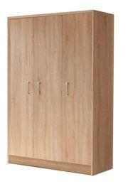 Kleiderschrank Freddy 3-trg braun B
