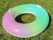 NEU aufblasbarer Schwimmreifen Rainbow von