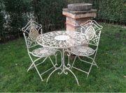 Gartenset Eisen Tisch und 2Stühle