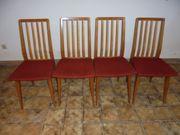 Stühle 50er Jahre aus Nußbaumholöz