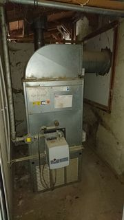 Heizung- Warmlufterhitzer mit Gasbrenner