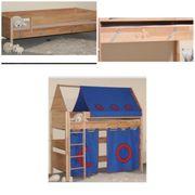 Kinder Hochbett Etagenbett 2x Einzelbett