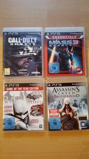 PS3 verschiedene Spiele