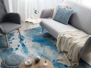 Teppich blau-grau Flecken-Motiv 140 x