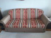 Elegante Couchgarnitur 3-Sitzer Schlafcouch u