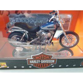 Modellmotorrad Harley Davidson 2002 FXDL Dyna Low Rider blau/silber