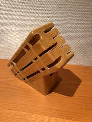 Messerblock Holz 6 Messer Schere