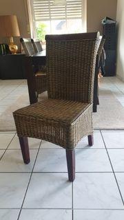 Esszimmer Stühle Rattan Korbstühle