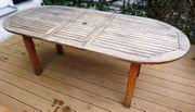 Ausziehbarer Gartentisch Teak 200x90cm