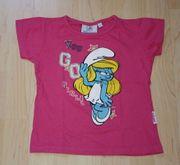 Mädchen T-Shirt Schlümpfe Kinder Kurzarmshirt