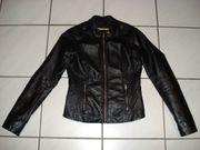 Hollister Lederjacke schwarz Größe S