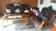 Wohnzimmer Leder Sitzecke
