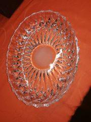 Kristall Schale oval Aufbewahrung Deko