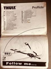 2x THULE Fahrradträger PRORIDE 591