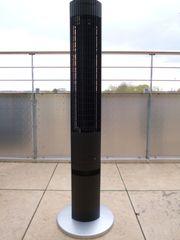 Turmventilator mit Fernbedienung schwarz silber -