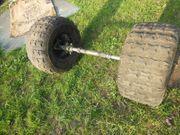 Räder und Achse eines Quads