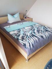 Hochwertiger Ahornholz Kleiderschrank Bett und