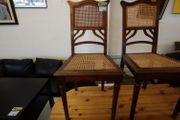 Stühle 4 Stück Geflecht Antik -