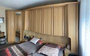 Schlafzimmer Eiche Natur mit Bett