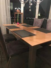 Esszimmer Tisch mit 6 Stühlen