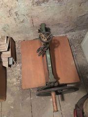 Antike Walzenpresse Tiefdruckpresse Mangel
