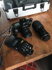 Canon T90 viel Zubehör